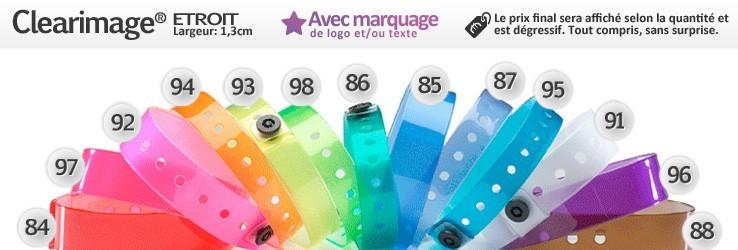 Bracelets Clearimage® Etroit (1,3cm)