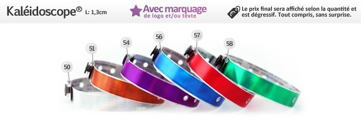 Bracelets Kaléidoscope® Brillants (1,3cm) imprimés (avec marquage)
