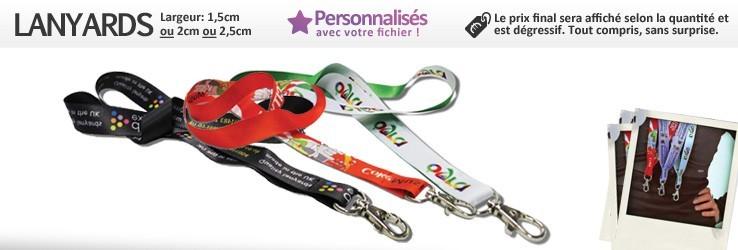 Keycord / Lanyards (1,5cm - 2cm - 2,5cm) aan personnaliseeren