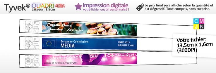 Polsbandjes in papier TYVEK® Full Digital opdruk